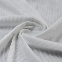 White - Plain 100% Cotton 2x1 Rib